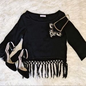 🚨Flynn Skye Siena Black Fringe Crop Top🚨